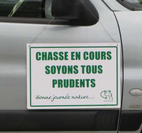 Chasse, prudence